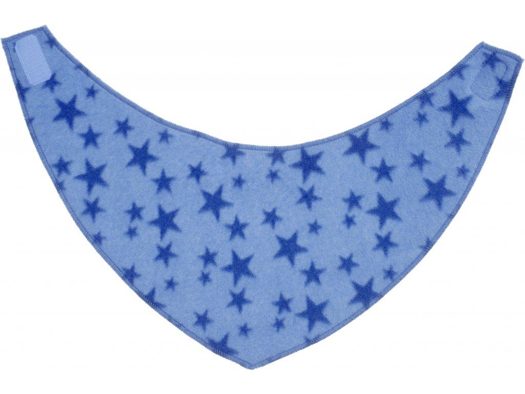 PLAYSHOES Fleecová šatka Hviezdička, farba: modrá