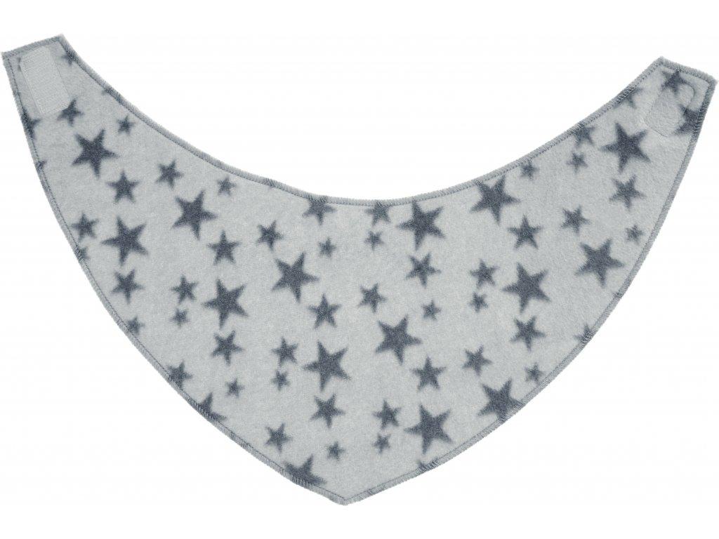 PLAYSHOES Fleecová šatka Hviezdička, farba: šedá