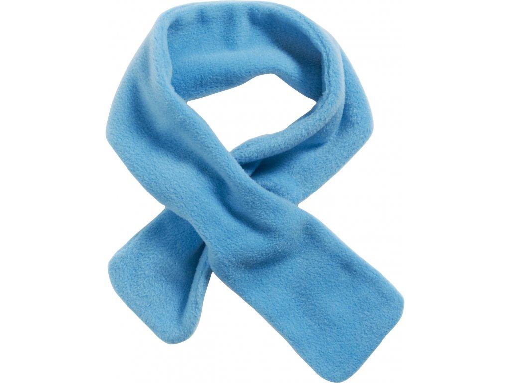 Fleecový šál prevliekací modrý