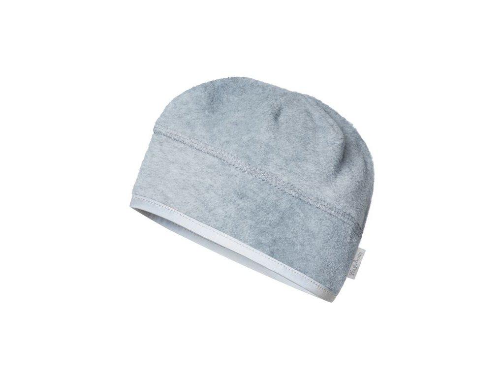 Fleecová čiapka pod prilbu sivá
