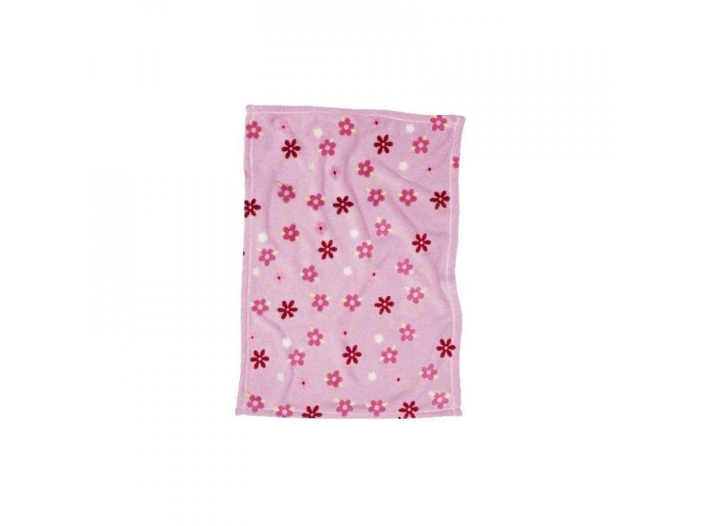 PLAYSHOES Fleecová deka Kvet 100 x 150cm