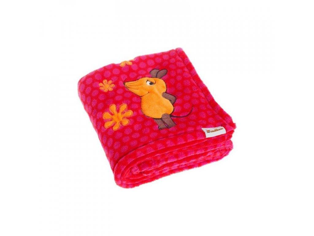 PLAYSHOES Fleecová deka Myška ružová 75x100