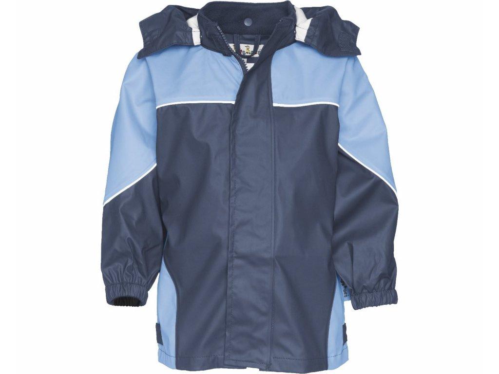 Dvojfarebná bunda do dažďa modrá