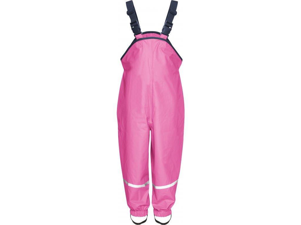 Nohavice do dažďa s bavlnenou podšívkou tmavoružové