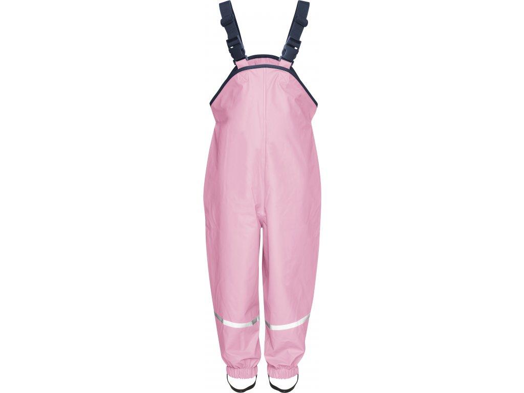 Nohavice do dažďa s bavlnenou podšívkou svetloružové