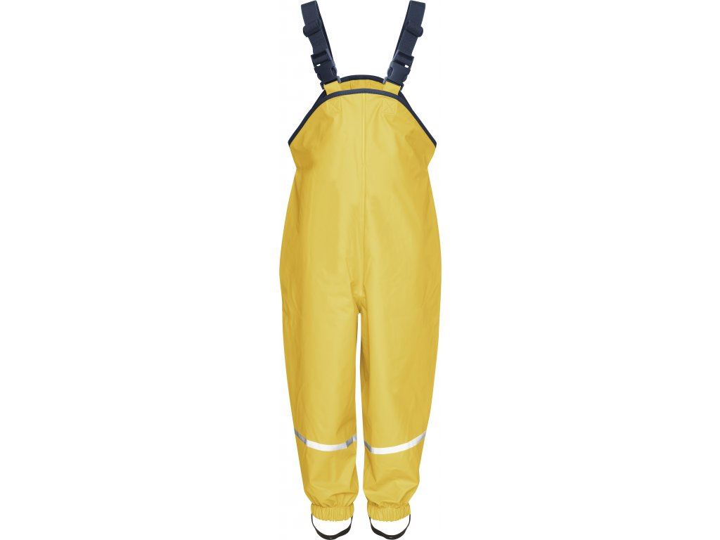 Nepremokavé nohavice na traky žlté