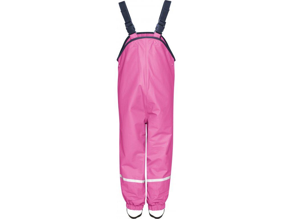 Nohavice do dažďa s fleecovou podšívkou ružové