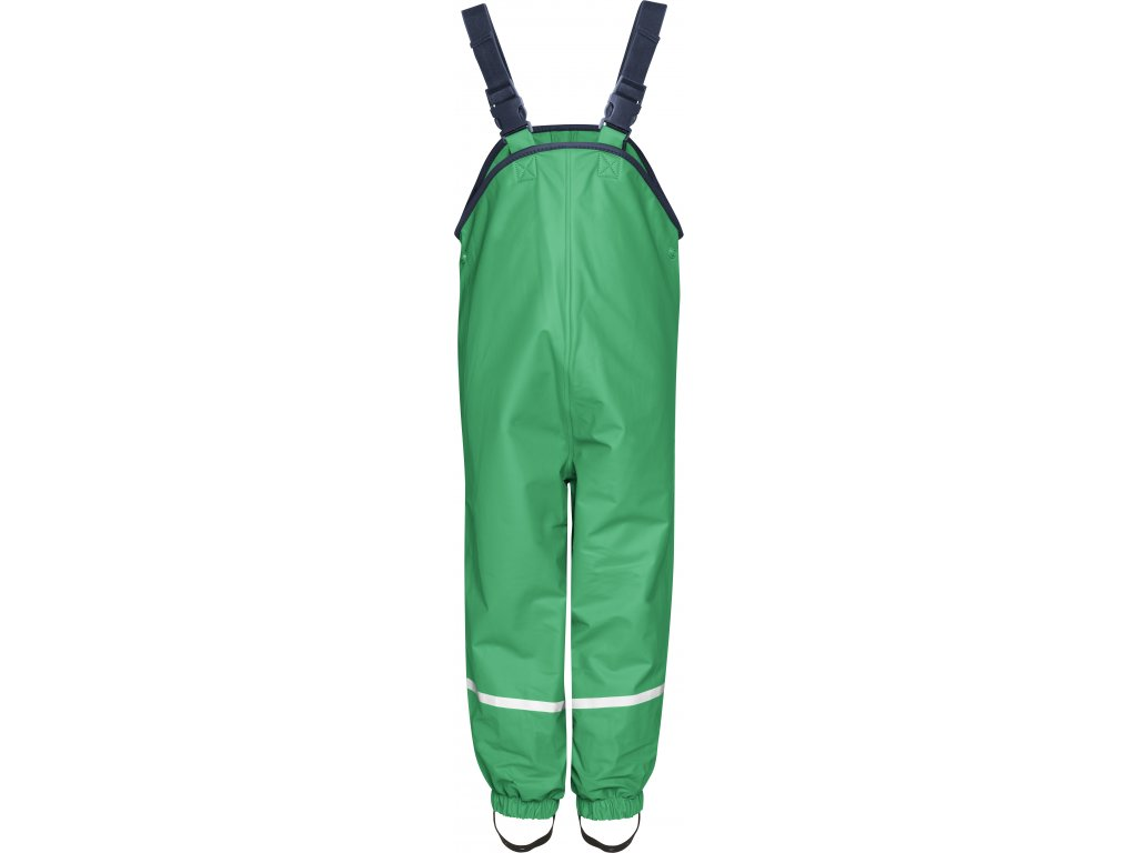 Nepremokavé nohavice na traky s fleecovou podšívkou zelené