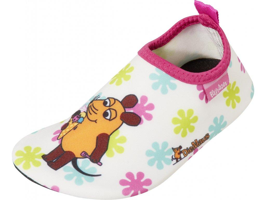 Barefoot topánky do vody s UV ochranou Myška a kvietky