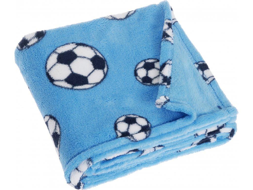 Fleecová deka Futbal modrá