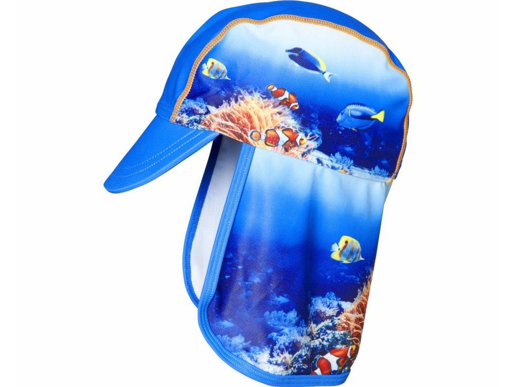 Čiapka so šiltom a UV ochranou Podmorský svet