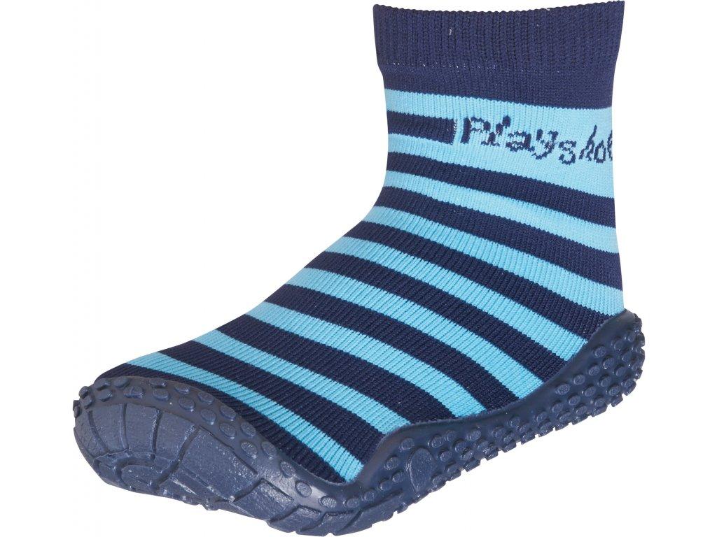 Aqua ponožky modrý pásik