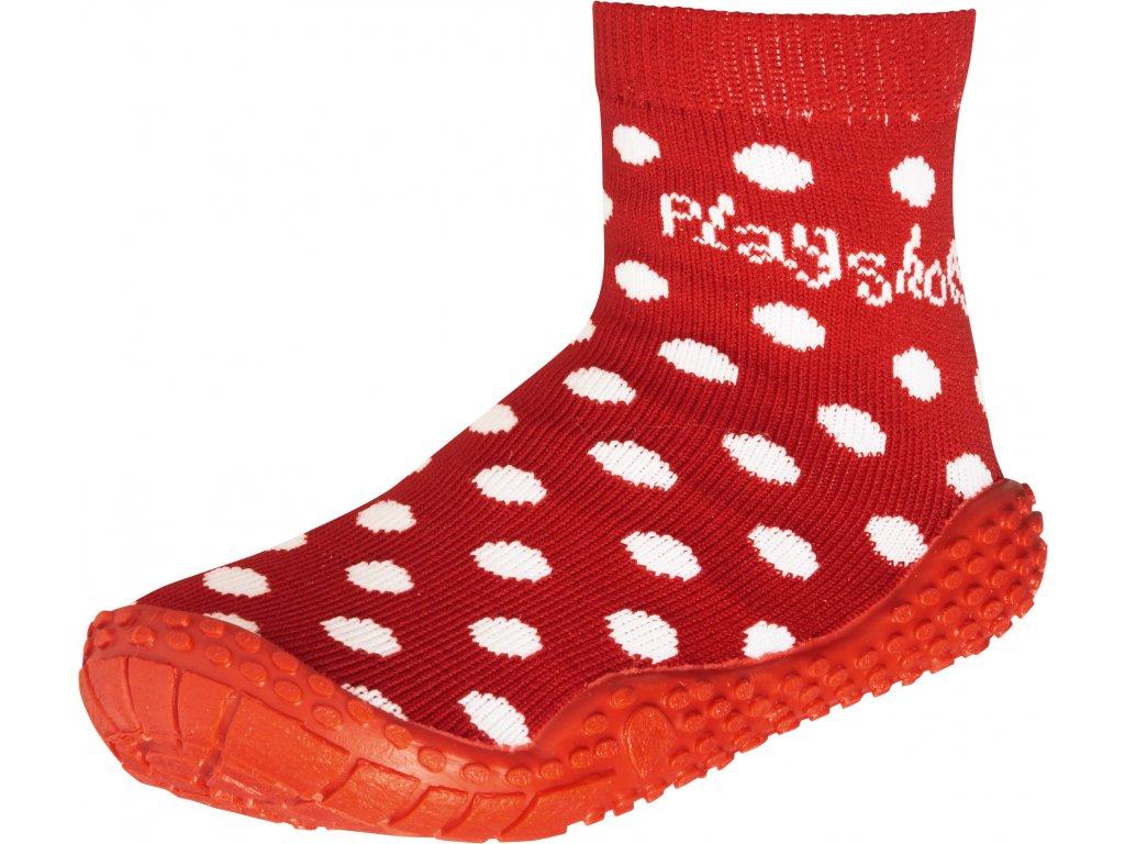 Aqua ponožky Bodka červené