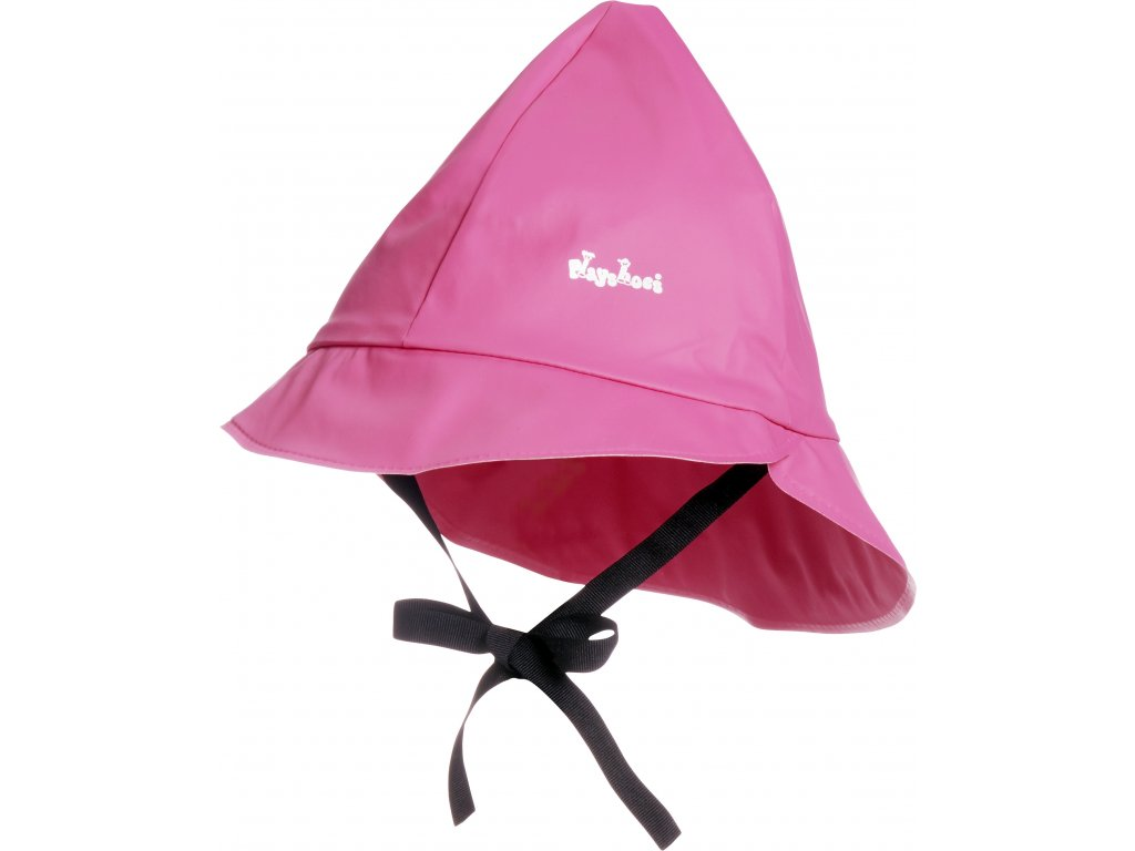 Klobúčik do dažďa s bavlnenou podšívkou ružový
