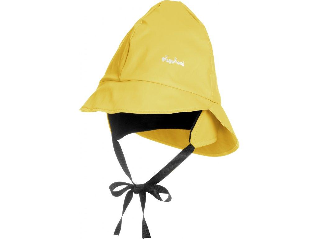 Klobúčik do dažďa s fleecovou podšívkou žltý