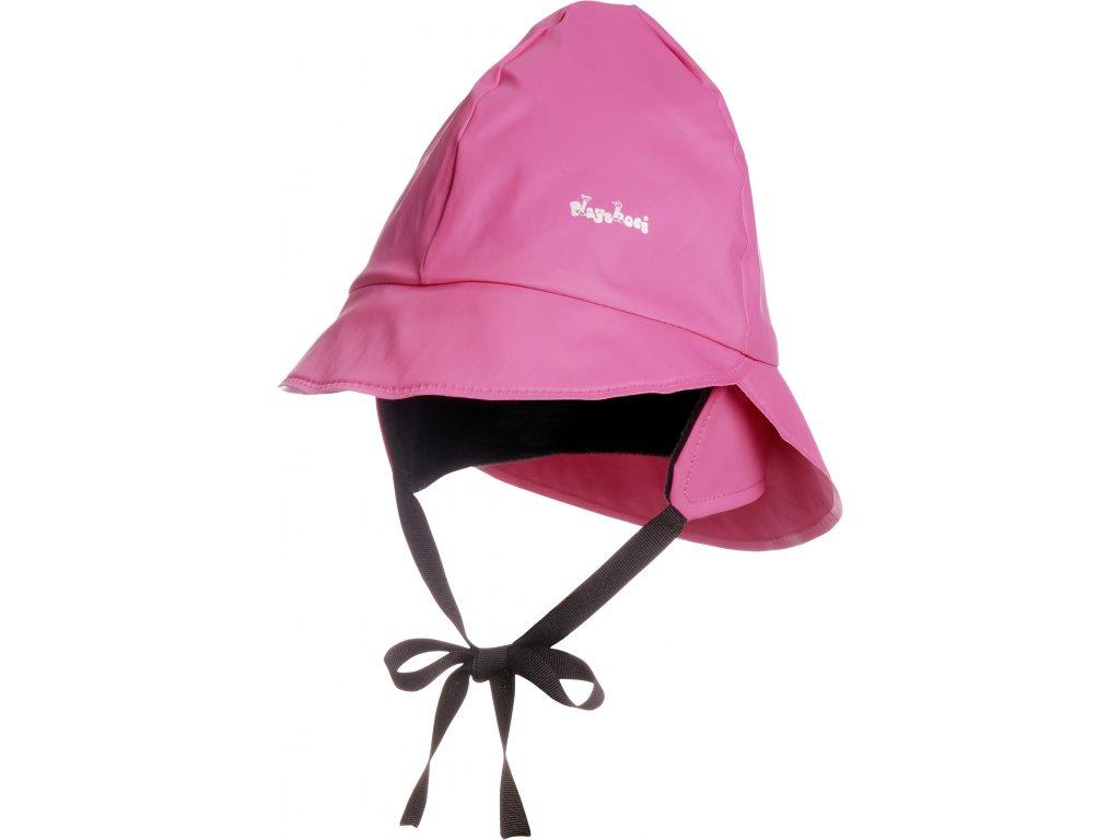 Klobúčik do dažďa s fleecovou podšívkou ružový