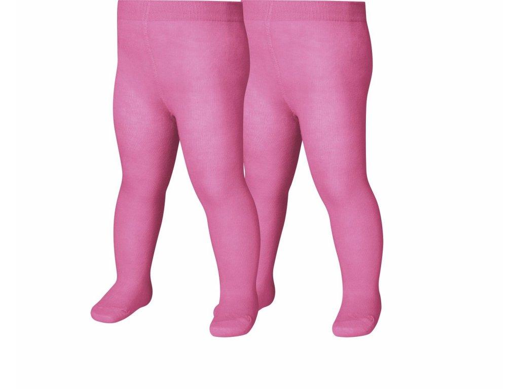 Detské termo pančuchy Uni dvojbalenie ružové