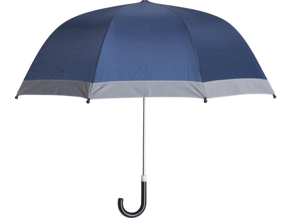 Detský dáždnik s reflexným pásom tmavomodrý