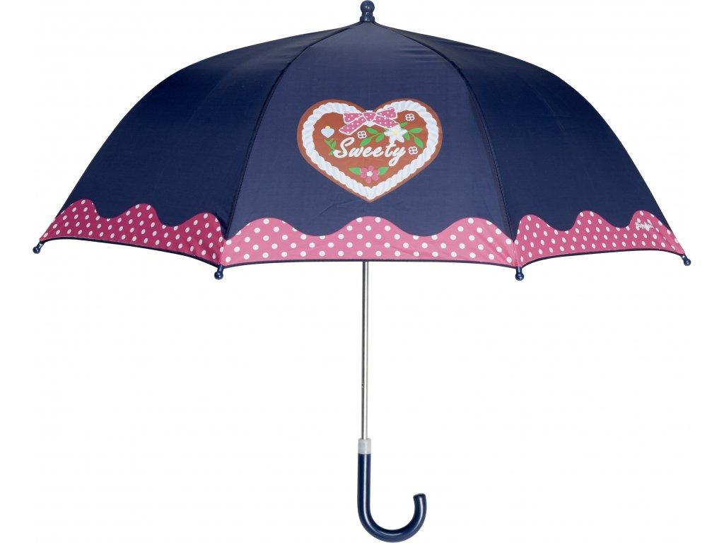 PLAYSHOES Detský dáždnik Sweety  70cm tmavomodrý