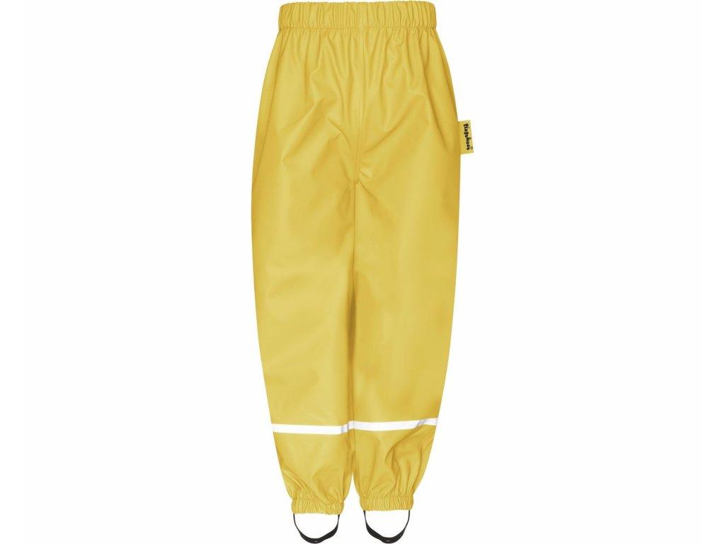 Nepremokavé nohavice s fleecovou podšívkou žlté