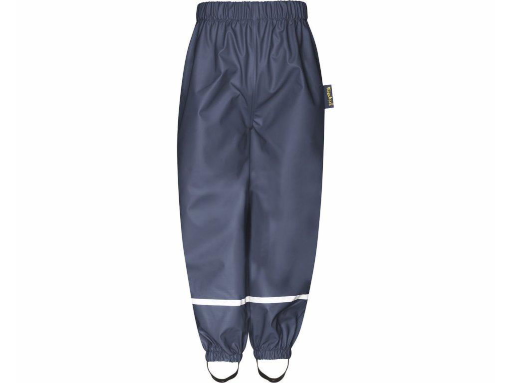 Nepremokavé nohavice na gumu s fleecovou podšívkou tmavomodré