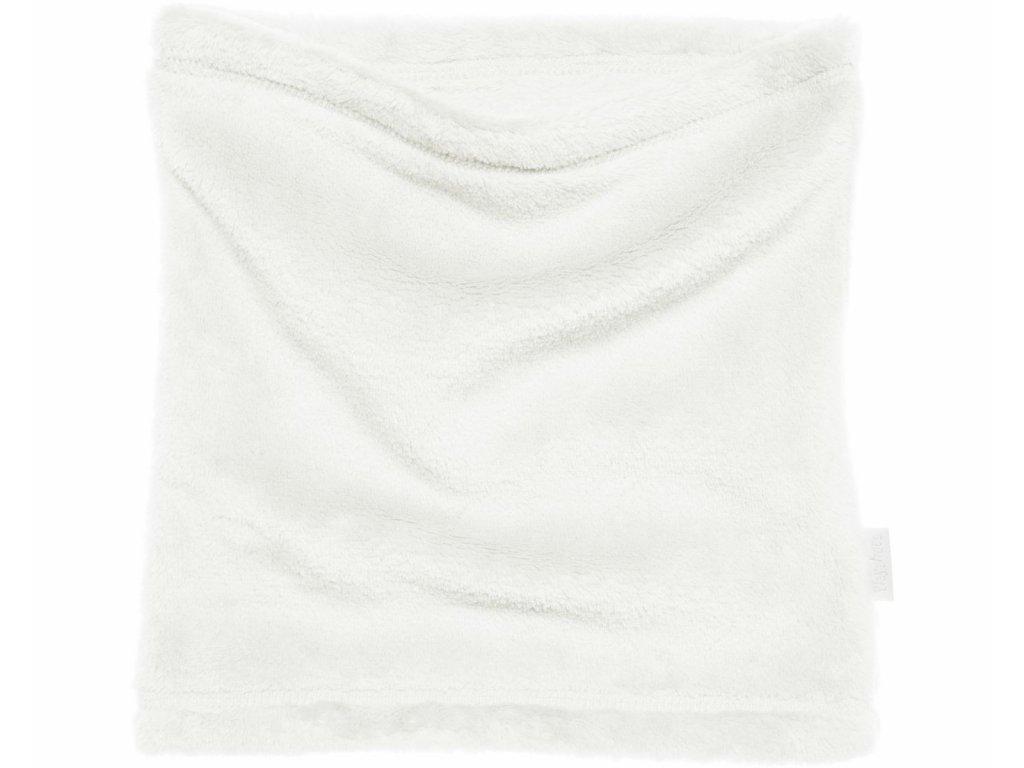Fleecový nákrčník biely