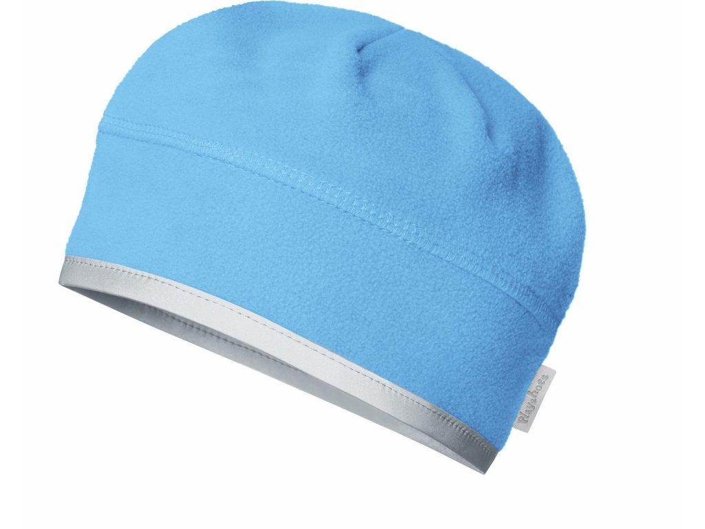 Fleecová čiapka pod prilbu modrá