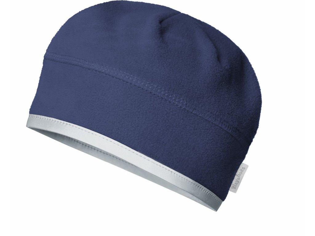 Fleecová čiapka pod prilbu tmavomodrá