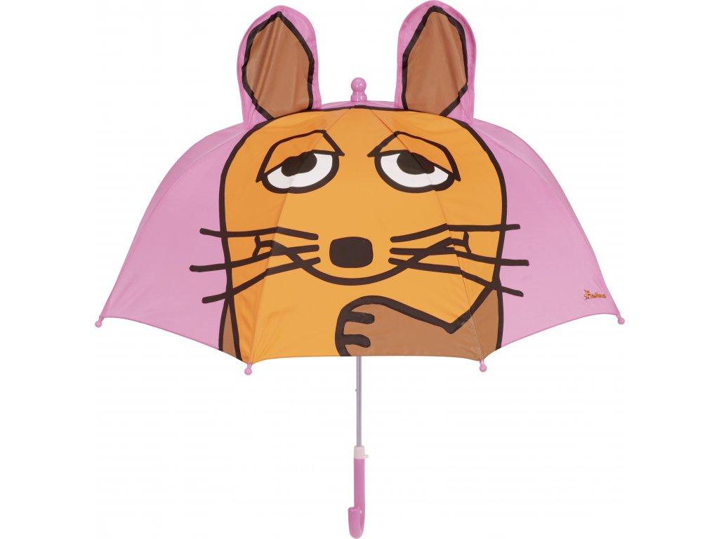 Detský dáždnik Myška 3D ružový