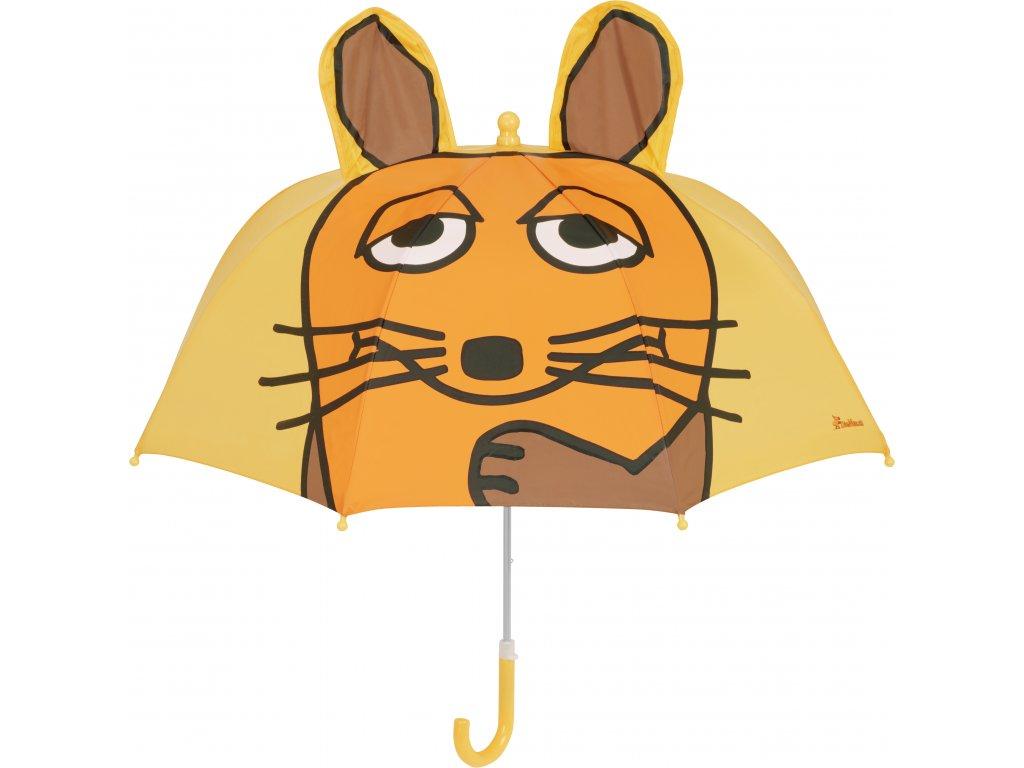 Detský dáždnik Myška 3D žltý