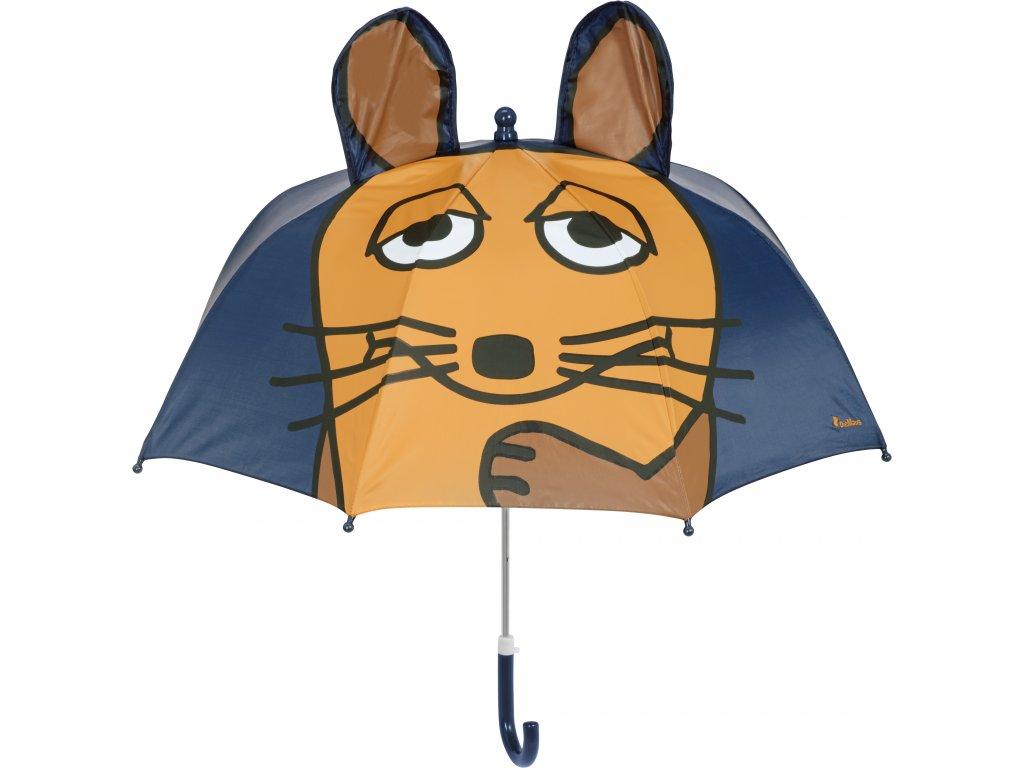 Detský dáždnik Myška 3D modrý