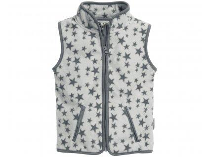 Fleecová vesta hviezdičková sivá