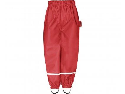 Nepremokavé nohavice s fleecovou podšívkou čevené