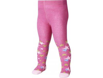 PLAYSHOES Detské pančuchy Hviezdička, farba: ružová