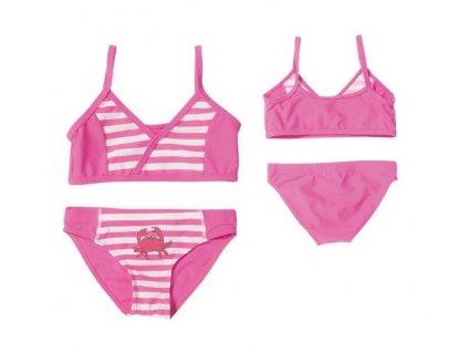 Dvojdielne ružové plavky Krab