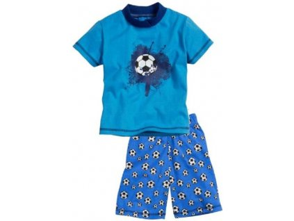 PLAYSHOES Pyžamo so šortkami Futbal, farba: modrá