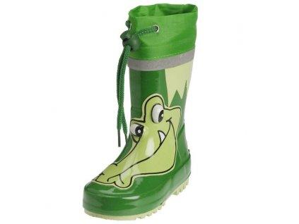 Detské gumáky Krokodíl zelené