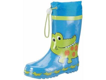 PLAYSHOES Detské gumáky Krokodíl modrý