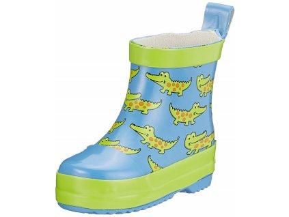 Detské gumáky nízke  Krokodíl modrý