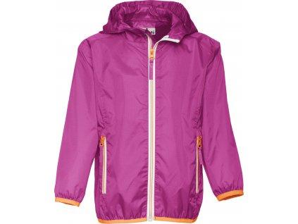 Nepremokavá ľahká bunda fialovoružová