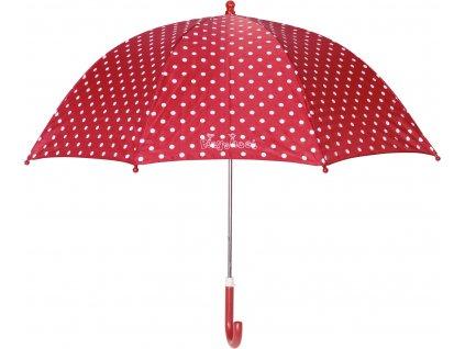 PLAYSHOES Detský dáždnik - Bodka 70cm, farba červená
