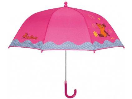 PLAYSHOES Detský dáždnik Myška - ružový 70cm