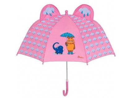 Detský dáždnik Myška a slon 3D