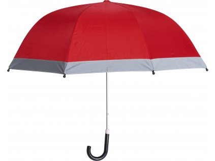 Detský dáždnik s reflexným pásom červený