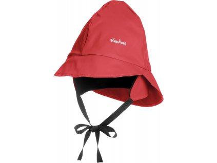 Klobúčik do dažďa s bavlnenou podšívkou červený