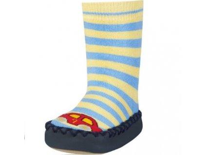 PLAYSHOES Protišmykové ponožky-papuče Auto