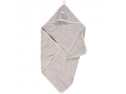 PLAYSHOES Froté šedá osuška s kapucňou Slon