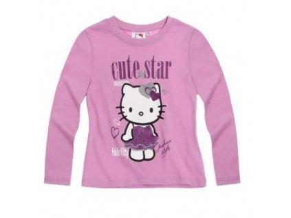 Hello Kitty Tričko s dlhým rukávom, farba: fialová