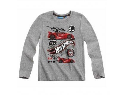 Hot Wheels tričko s dlhým rukávom, farba: červená