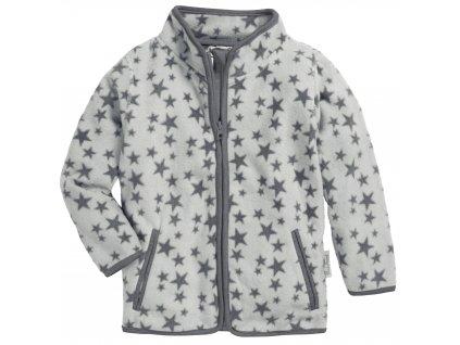Fleecová mikina Hviezda sivá